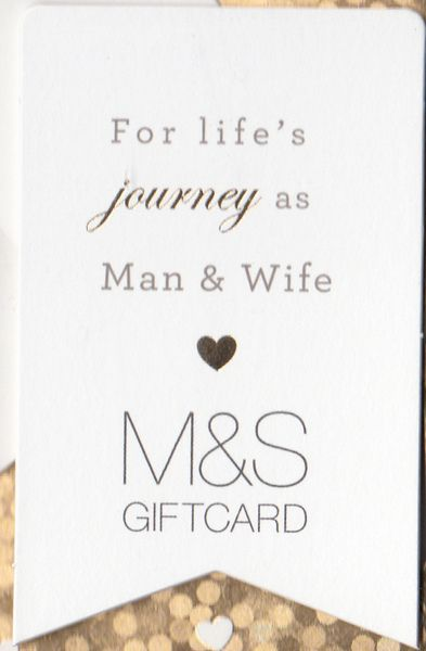 for life's journey as man & wife