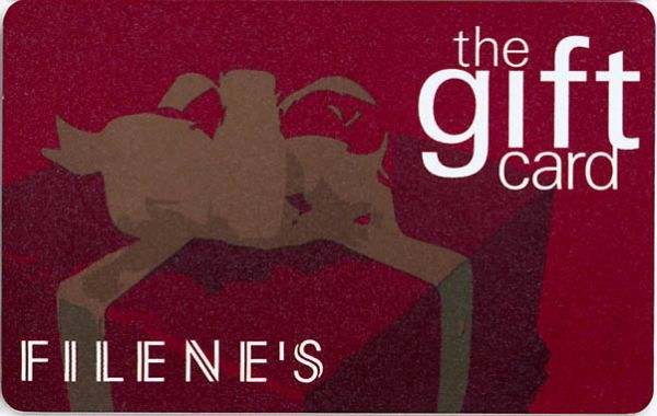 Filenes Red Gift Box