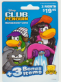 Club Penguin - 3 month +3 bonus item